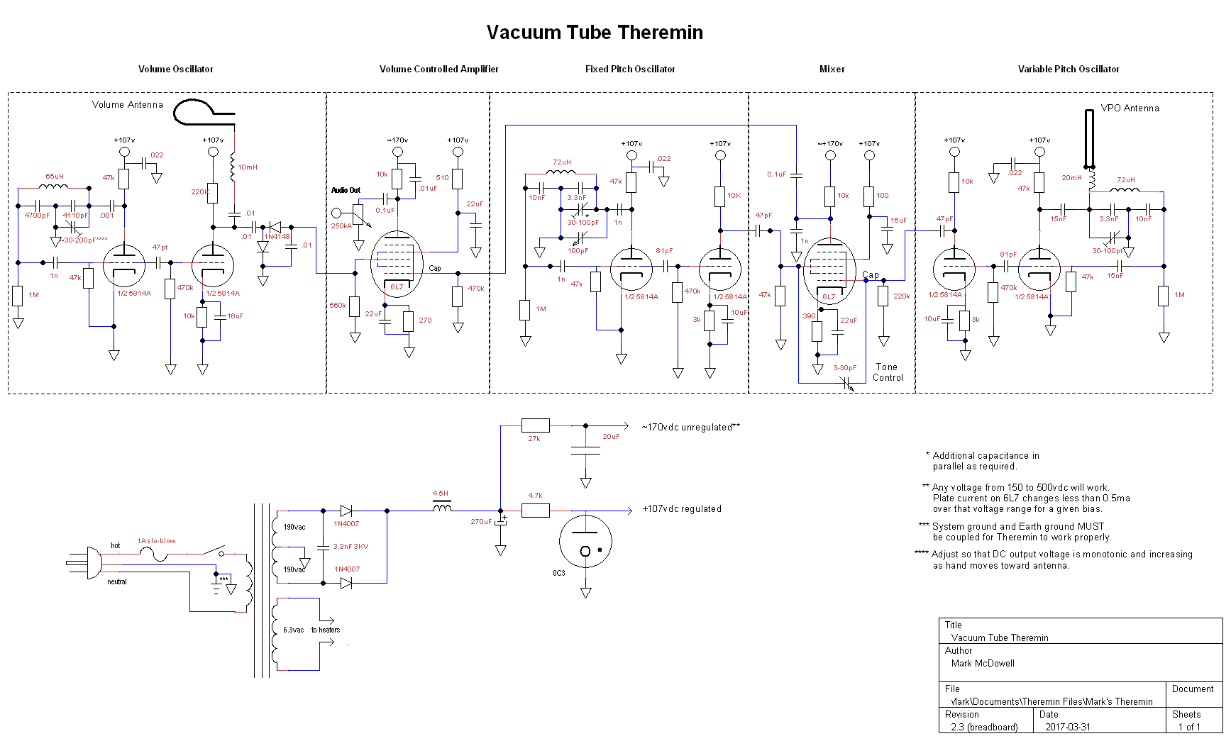 Vacuum Tube Theremin